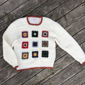 Vintage blanket sweater.